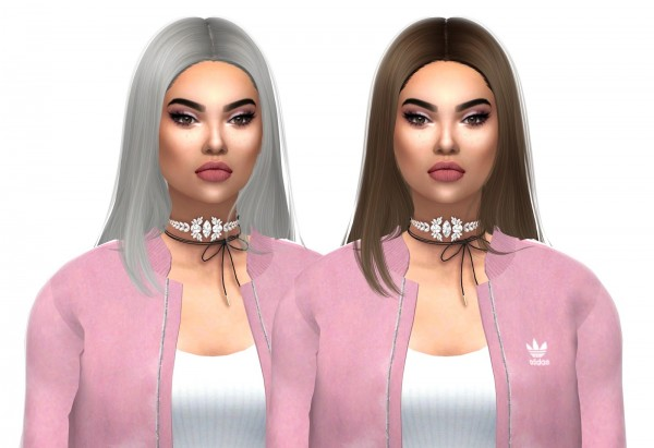 Kenzar Sims: Wing`s OS0226 naturals hair recolor for Sims 4