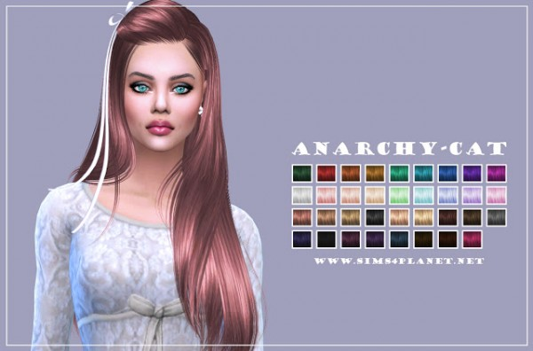 Anarchy Cat: Butterfly Hair 099 recolor for Sims 4