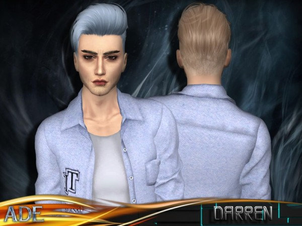 The Sims Resource: Darren hair by Ade Darma for Sims 4