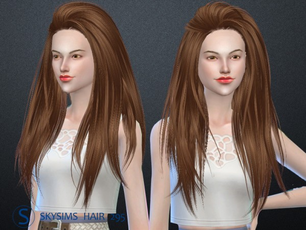 Butterflysims: Hair 295 by Skysims for Sims 4