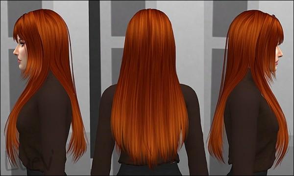 Mertiuza: Hit The Lights hair retextured for Sims 4