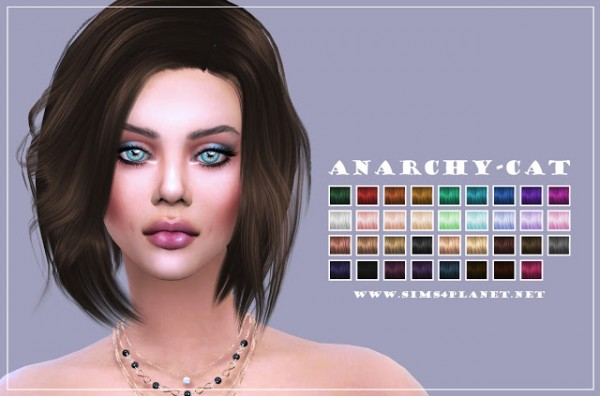 Anarchy Cat: Stealthic`s Vapor hair retextured for Sims 4
