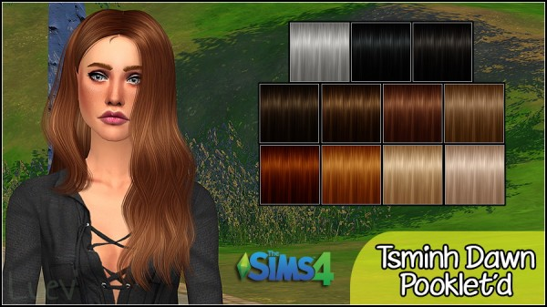 Mertiuza: Tsminh`s Dawn hair retextured for Sims 4