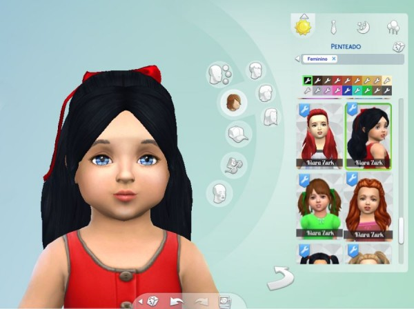 Mystufforigin: Sweet Ponytail for Toddlers for Sims 4