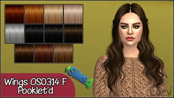 Mertiuza: Wings OS0314F hair retextured for Sims 4