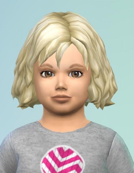 Birksches sims blog: Midwavy Toddler Hair for Sims 4