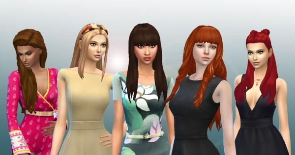 Mystufforigin: Long Hair Pack 8 for Sims 4