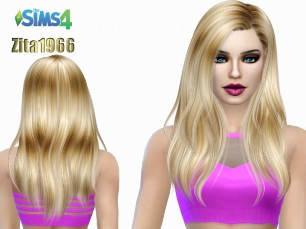 The Sims Resource: Sunrise Highlights hair recolored by ZitaRossouw for Sims 4
