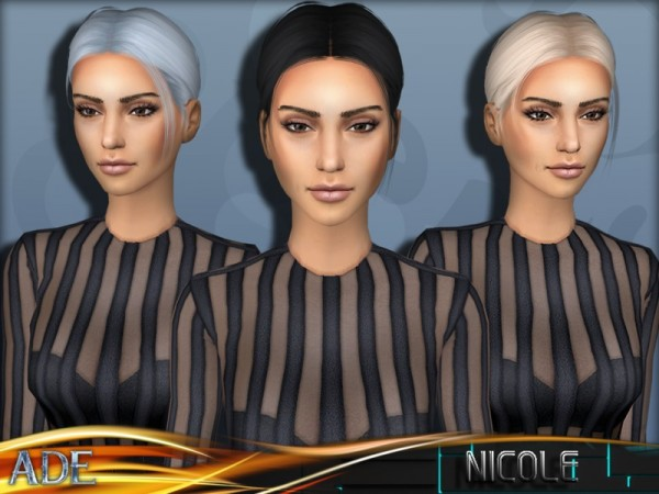The Sims Resource: Nicole hair by Ade Darma for Sims 4