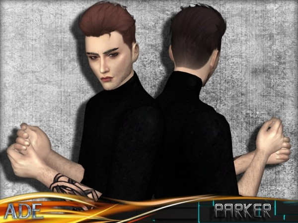 The Sims Resource: Parker hair by Ade darma for Sims 4