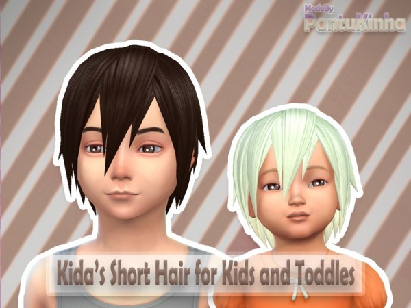 The Sims Resource: Short Hair Style Made By PantuKinha for Sims 4