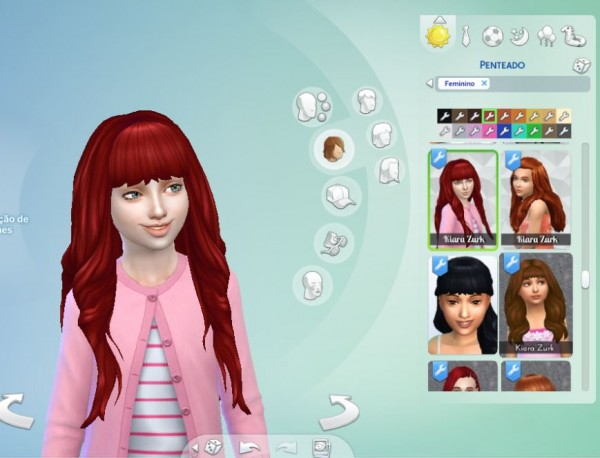 Mystufforigin: Emma Hairstyle for Girls for Sims 4