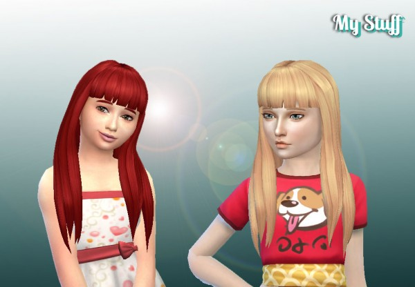 Mystufforigin: Twists Long V2 for Girls for Sims 4