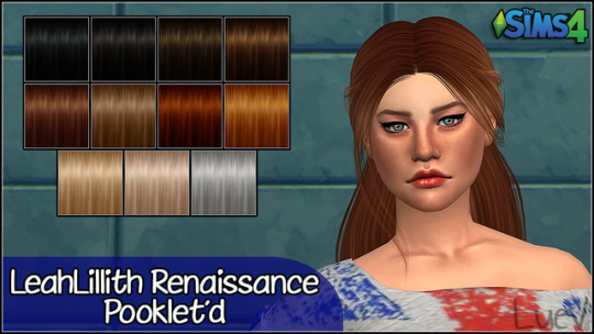 Mertiuza: LeahLillith`s Renaissance hair retextured for Sims 4