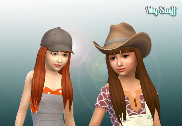 Mystufforigin: Twists Long V2 for Girls for Sims 4