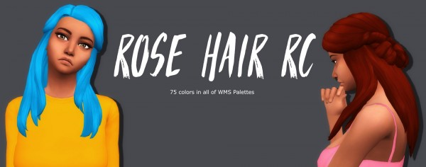 Simsworkshop: Rose Hair recolored by Sympxls for Sims 4