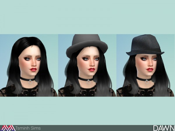 The Sims Resource: Dawn Hair 29 by Tsminh Sims for Sims 4