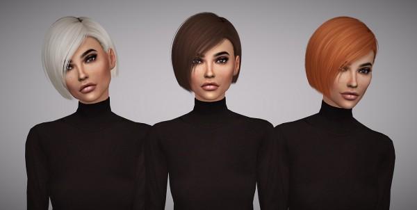 Aveline Sims: Nightcrawler`s Danger Hair Retextured for Sims 4