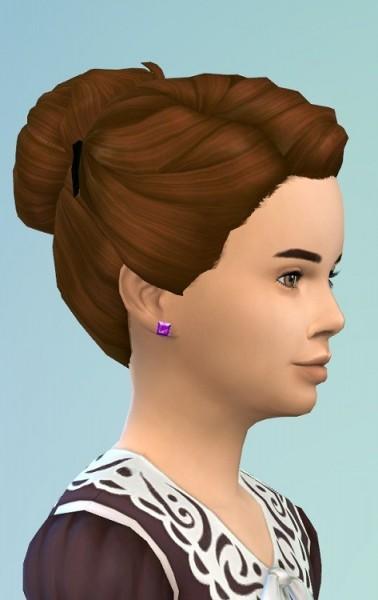 Birksches sims blog: Hair Bun with Clips for Sims 4