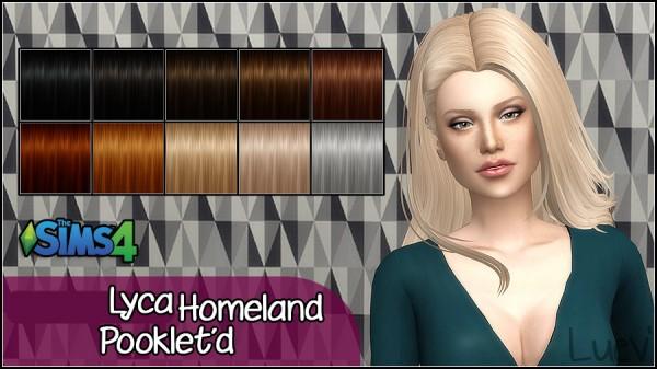Mertiuza: Lyca homeland hair retextured for Sims 4