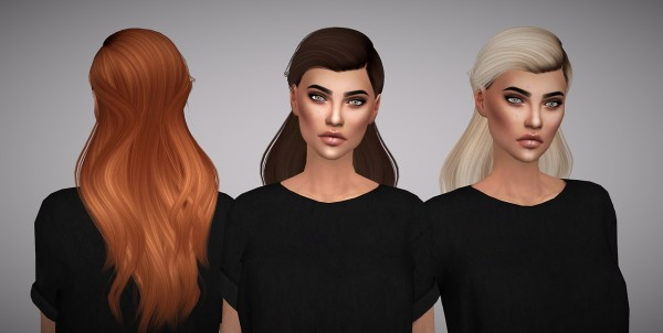 Aveline Sims: LeahLillith`s Palace Hair retextured for Sims 4
