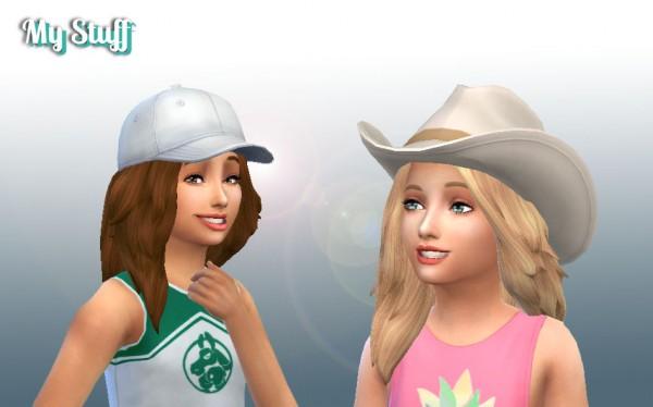 Mystufforigin: Autumn hair for Sims 4