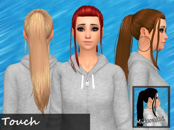Mikerashi: Touch Hair for Sims 4