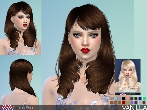 The Sims Resource: Vanilla Hair 28 by TsminhSims for Sims 4