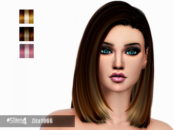 The Sims Resource: Crow Highlights hair recolor by ZitaRossouw for Sims 4