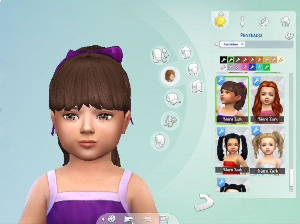 Mystufforigin: High Ponytail with Bangs for Toddlers for Sims 4