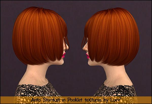 Mertiuza: Anto`s Stardust hair retextured for Sims 4