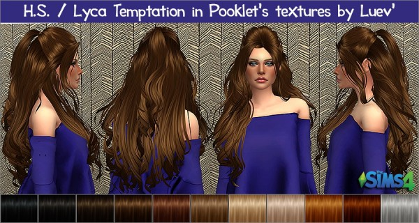 Mertiuza: Lyca temptation hair retextured for Sims 4