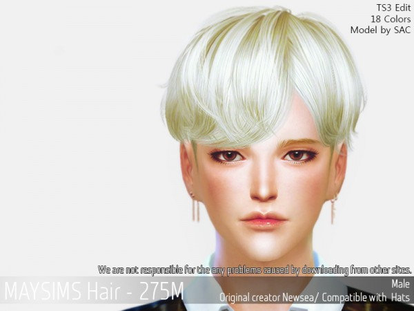 MAY Sims: May 275M hair retextured for Sims 4