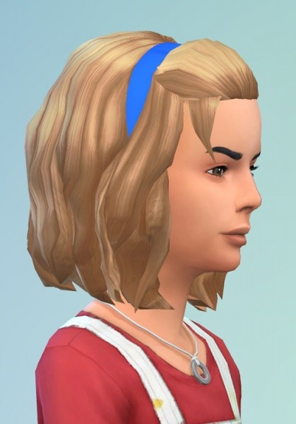 Birksches sims blog: HalfUp Medium hair for girls for Sims 4