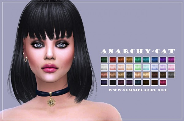 Anarchy Cat: Alesso`s Lion hair reolor for Sims 4