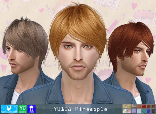 NewSea: YU 108 Pineapple hair for Sims 4