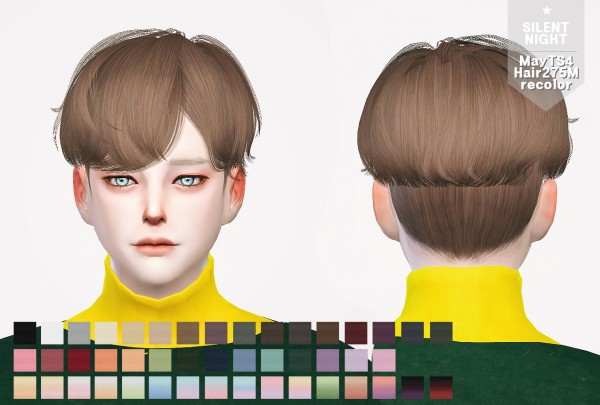 Silent Night: May Hair 275M recolor for Sims 4
