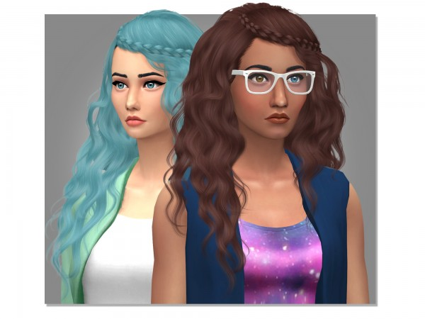 Simsworkshop: Stealthics Genesis  Hair Retextured by xEenhoornx for Sims 4