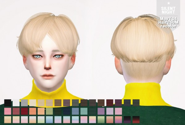 Sim Culture Nation: May Hair 260M recolor for Sims 4