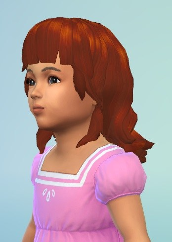 Birksches sims blog: Midget Curls hair for toddlers for Sims 4