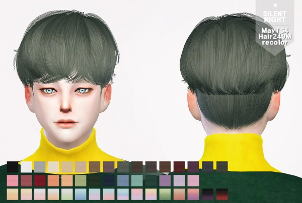 Silent Night: May Hair 240M recolor for Sims 4