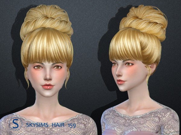 Butterflysims: Skysims 159 hair for Sims 4