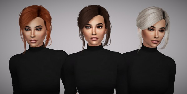 Aveline Sims: Stealthic`s Envy hair retextured for Sims 4