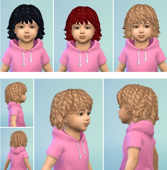 Birksches sims blog: Dread Bob hair for Sims 4