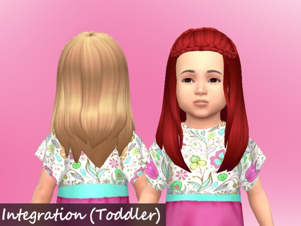 Mikerashi: 100 Followers Gift   Butterflyand Integration Hairs for Sims 4