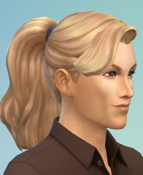 Birksches sims blog: Eduard's Ponytail hair for him for Sims 4