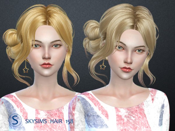 Butterflysims: Skyhair 158 hair for Sims 4