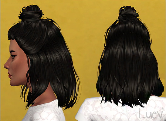 Mertiuza: Lyca Daylight hair retextured for Sims 4