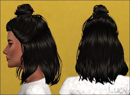 Mertiuza: Lyca Daylight hair retextured for Sims 4