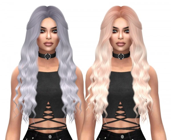 Kenzar Sims: Anto`s Coral Naturals hair recolor for Sims 4